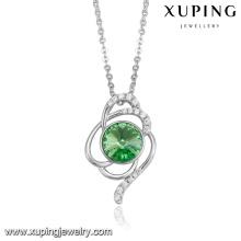43807-bijoux de fantaisie et de mode Cristaux de Swarovski, collier en pierre verte