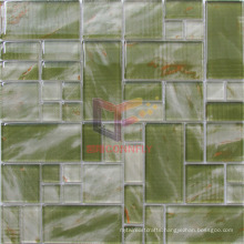 Silk Printing Marble Like Pattern Wall and Floor Used Glass Decoration Mosaic Tile (CD463)