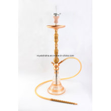 Shisha de madeira dourada moda novo estilo