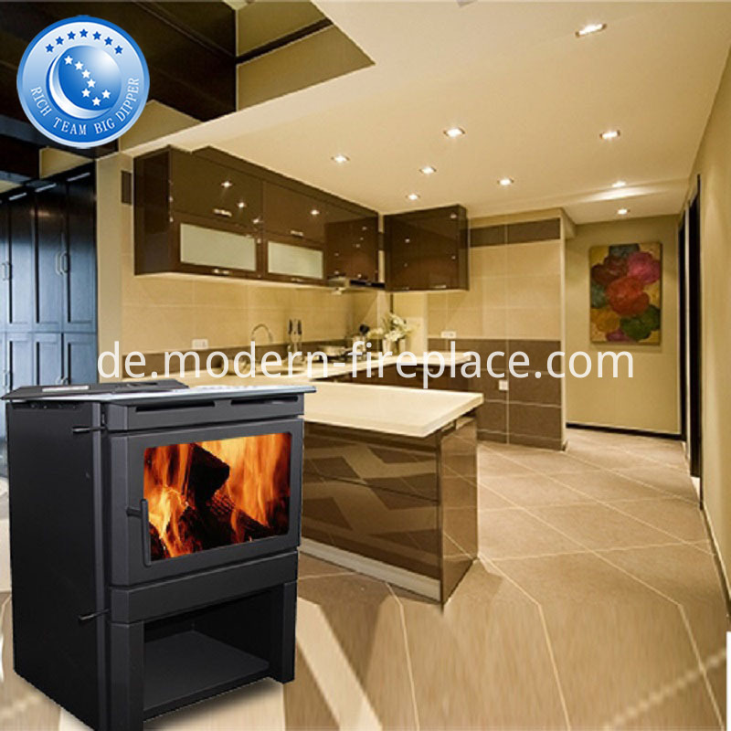 Wood Burning Modern Stove Steel Plate