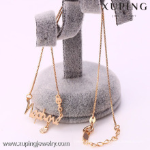 41968- Xuping Fine Jewelry Gold Name Necklace Wholesale