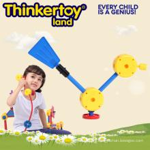 DIY Пластиковые игрушки образования для детей Дети Строительство Блок игрушки