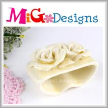 Bougeoirs en céramique décoratifs en forme de fleur