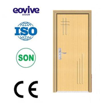 amarillo color Nigeria estilo barato del PVC de la puerta