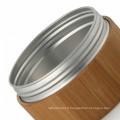 15/20/25/30/50/100 ml en aluminium bambou crème pot cosmétique paquet crème pot avec couvercle en bambou vente chaude