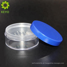 Embalagem de caixa compacta de pó solto de plástico roxo