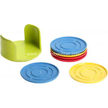 Bamboo Fiber Colorful And Create Cup Mat