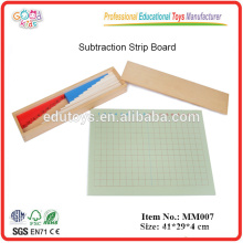 Montessori material Subtraction Strip Board
