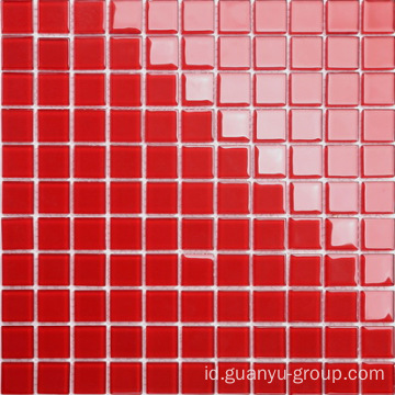 Pure Red Color Mosaic
