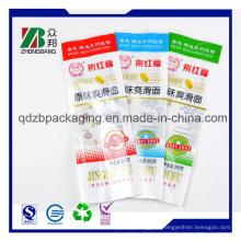 Plastic Back Center Sealed Tasche für Wite Tissue Packaging