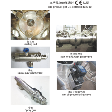 Bottom Spray Wurster Coating Drying Machine