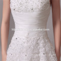 Vestido de novia de la sirena atado de la delgada línea atractiva del hombro del nuevo modelo 2016
