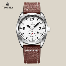 Newest Fashion Quartz Watch with Genuine Leather Band 72098