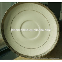 tea set 2014 new design golden porcelain flower gold line stylish royal fine bone china cutlery set