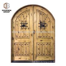 2018 nueva llegada puerta de entrada estilos fotos de vidrio decorativo puerta para puerta de entrada 2 panel arco interior puerta