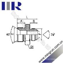 Bsp Male / Jic Male 74 Cone Hydraulic Tube Adapter (1BJ)