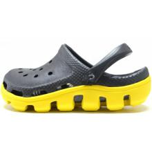 Sapatos de jardim pretos e amarelos Junior EVA Sandals Beach Shoes