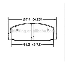 D332 FB06-49-280 for Toyota Lexus top quality brake pad