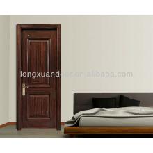 Puerta de madera barata Alibaba, puerta de madera clásica de la entrada, puerta