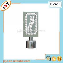 Flexible schwere Vorhangschienen mit Diamantvorhang Finial