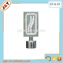 flexible heavy duty curtain tracks with diamond curtain finial
