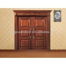 Porte d'entrée, portes extérieures en bois, design de porte d'entrée principale
