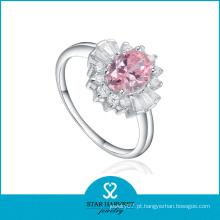Atacado Pureza Anéis com Cristal Rosa