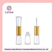 Doble brillo tubo con aplicador labial brillo tubo de empaquetado