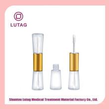 Duplo tubo de brilho labial com tubos de gloss labial aplicador embalagens