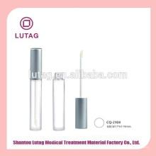 Tubo de brilho labial claro vazio frasco cosmético com aplicador