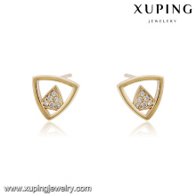 94563 xuping new fashion triangle shape stud diamond earring in China wholesale