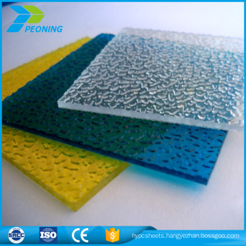 colored embossed polycarbonate sheet