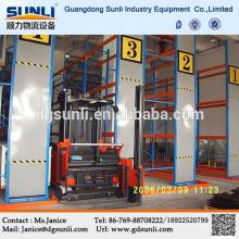 Dongguan Großhandel Q235b Stahl Lager Fabrik sehr schmalen Gang Palettenregal