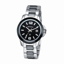Men's Classic Automatic Watch w/ Stainless Steel/Black Ceramic Case/Band, Japan Automatic Movement