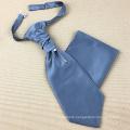 Groomsmen Gift Polyester Jacquard Grosgrain Cravat Ascot Tie and Pocket Square