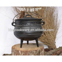 Three Leg High Quality Cast Iron potjie Pot 3 for camping