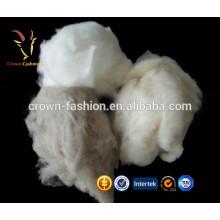 Fibra de lã fina 100% Cashmere branca 30-35mic