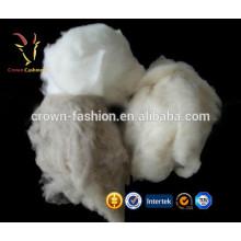 100% Белый кашемир тонкой шерсти волокна 30-35mic