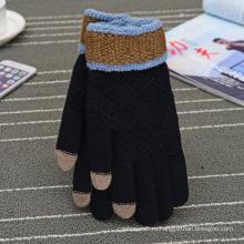 Оптовая дешевые последний трикотаж перчатки, Сенсорный экран перчатки, Грант боксерские перчатки для зимы