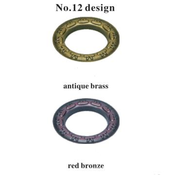 Ojal de cortina de varilla decorativa de artesanía de metal fino al por mayor