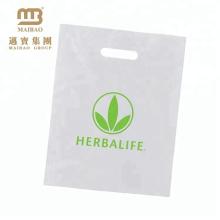 Saco de plástico industrial da compra econômica resistente biodegradável feita sob encomenda com amido de milho / mandioca