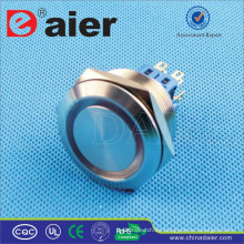 Daier GQ30F-22EM / GQ30F-22EL DPDT 30mm Ring Metall RGB LED Drucktaste