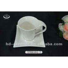 Porcelana copos de chá por atacado e pires