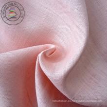 100% lino teñido de tela de la camisa (QF13--0271)