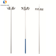 10m 15m 20m 25m 30m hot dip galvanized high mast pole lamp poles galvanized octagonal pole