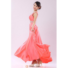 Cheap Evening Dress Fournisseurs Beaded Peach Straps Ceintures Chiffon Floor Length Party Gown Red Carpet