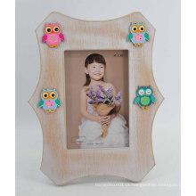 Quadro bonito da foto da coruja MDF para o bebê