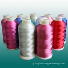 Высокое качество резьба вышивки рейона с заводской цене