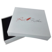 White embossing paper jewelry box for necklace