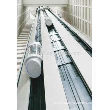 800kg Sala de máquinas elevador panorâmico para shopping center
